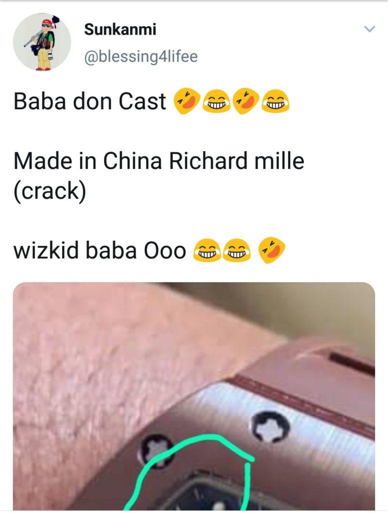 Wizkid fake watch