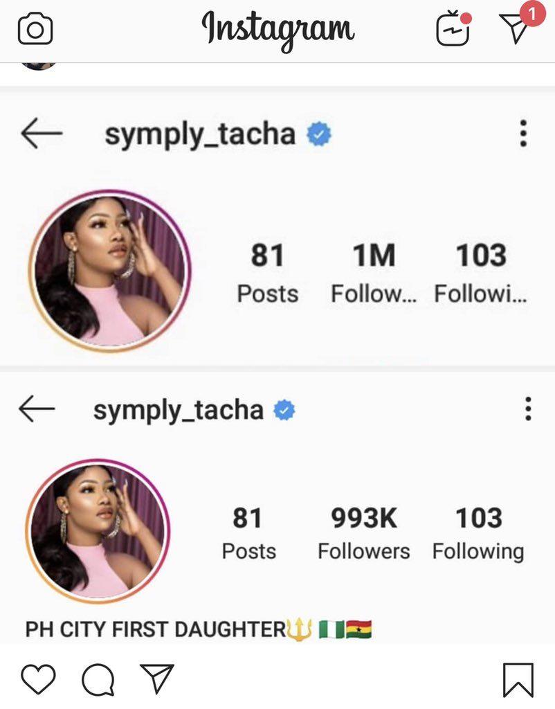 Tacha instagram reduced